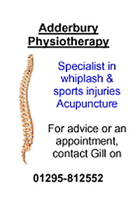 Adderbury Physio Web Advert April 2014